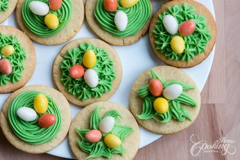 Sugar Cookie Nests :: Home Cooking Adventure