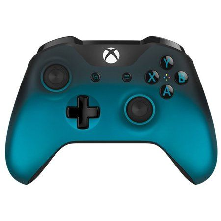 Free Shipping Buy Microsoft Xbox One Wireless Controller Special Edition Ocean Shadow At Walmart Com Xbox Wireless Controller