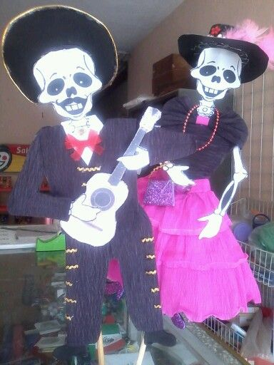 All The Music Como Vestir Una Calavera De Papel Crepe