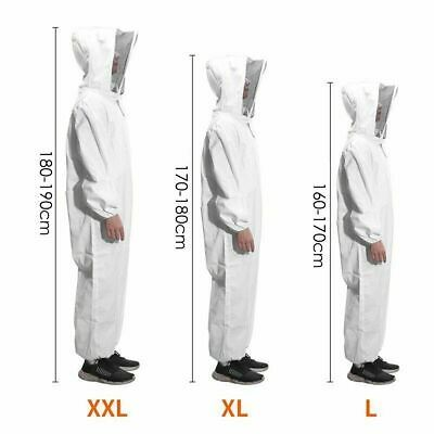 Anti Bee Beekeeping Suit White Safety Long Sleeve Shield 2XL Protective Costume