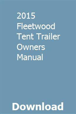 2015 Fleetwood Tent Trailer Owners Manual Owners Manuals Chilton Repair Manual Chevrolet Malibu