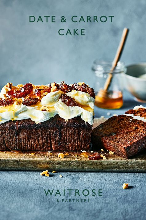 The dates add an intense, caramel flavour to a traditional carrot cake and the Greek yogurt and cream cheese frosting cuts perfectly through the sweetness. Tap for the recipe.