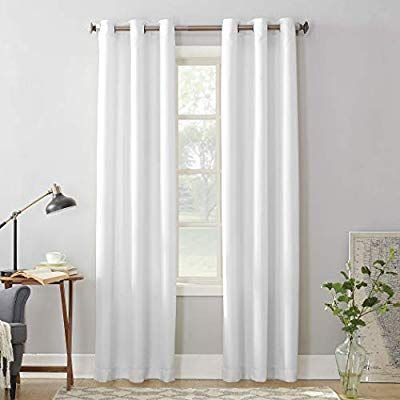 Amazon Com No 918 Montego Casual Textured Grommet Curtain Panel 48 X 95 White Home Kitchen White Paneling Panel Curtains Curtains
