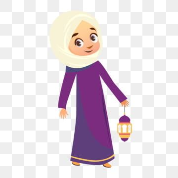 Muslim Girl With Hijab Element Eid Al Adha Eid Mubarak Calligraphy Fiter Mubarak Png And Vector With Transparent Background For Free Download In 2020 Black And White Cartoon Free Psd Design