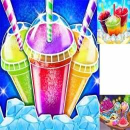 لعبة صانع طعام مثلج مشروب مثلج Icy Food Maker Frozen Slushy Cooking Play Games