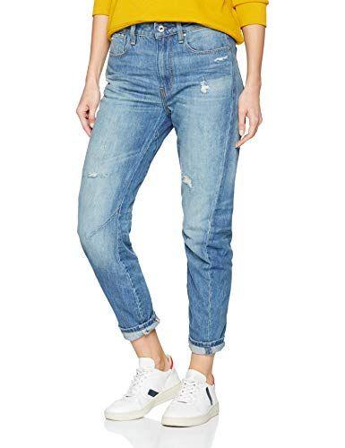 G Star Raw Damen Boyfriend Jeans Arc 2 0 3d Mid Blau Lt Aged Destroy 1243 W28 L34 Damen Jeans Blau