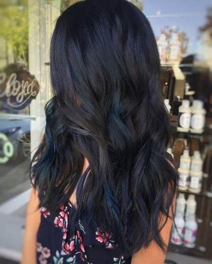New Hair Black Lowlights Haircolor Ideas Blue Hair Highlights Black Hair With Highlights Dark Hair