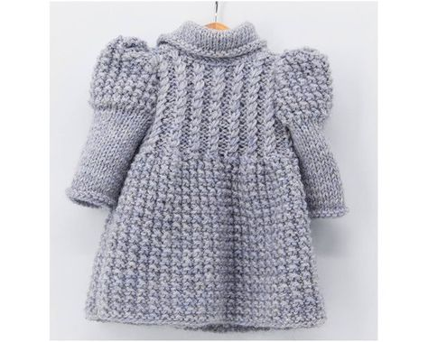 Stylish Knitted Coat For 18 Inch Dolls Knitting Pattern Doll