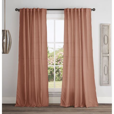 Vcny Broome 84 Inch Backtab Curtain Panel 54x84 Spice Orange