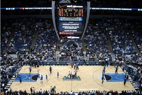 Target Center - Home of the MN Timberwolves (fitting that the pic shows the place half empty!