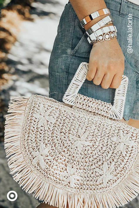 Woven bags for summer? Totes! Find textured handbags  purses to add beach vibes to any outfit.