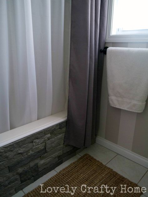 """""""Airstone"""" blocks- cheap, incredibly easy, and you can put them almost anywhere! Grill station, backsplash, even a tub like this lady did"""