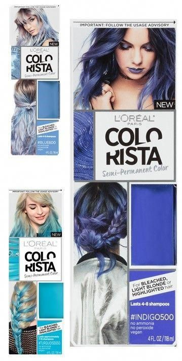 Shades Of Blue Hair Dye Colorista Semi Permanent Hair Color For