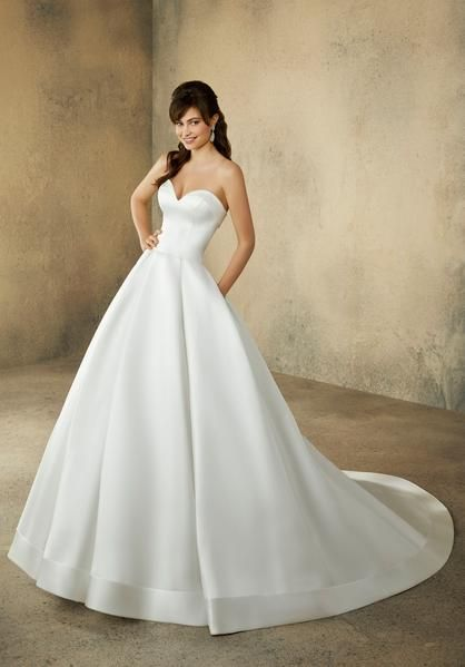 Morilee 2094 Rachel Dramatic Simple Satin Ball Gown Wedding Dress Off White Ball Gowns Wedding Simple Wedding Gowns Ball Gown Wedding Dress