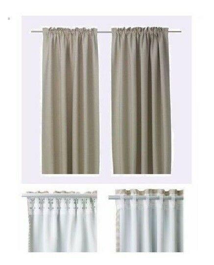Ebay Sponsored Ikea Vilborg Lt Beige Drape Curtain Sealed Modern