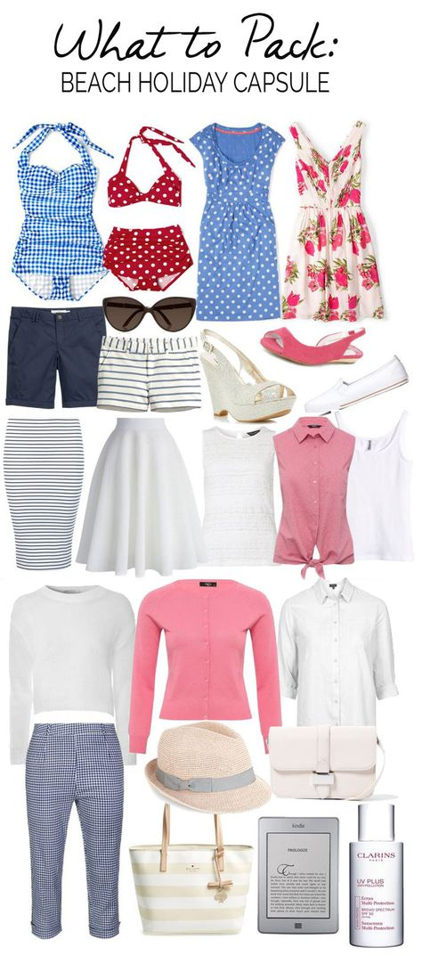 what to pack: beach holiday packing list
