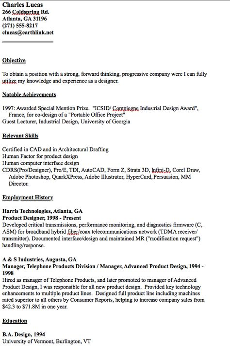 Example of Designer Resume - http\/\/resumesdesign\/example-of - lecturer resume objective