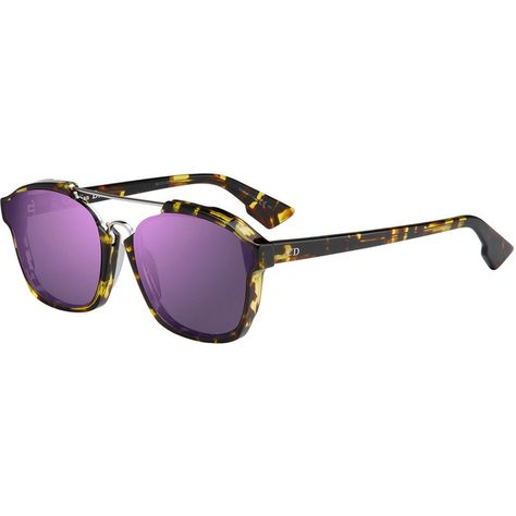 16d13ad93439b6 Dior Square Abstract Havana Sunglasses ( 520) ❤ liked on Polyvore featuring  accessories, eyewear, sunglasses, havana green, square glasses, green lens  ...