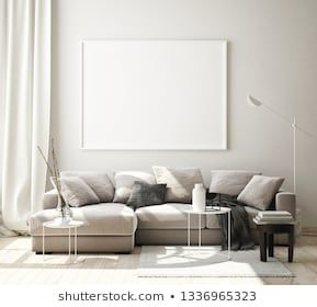 Mock Up Poster Frame In Modern Interior Background Living Room Scandinavian Style 3d Render 3d Illustration Il Modern Interior Interior Scandinavian Style