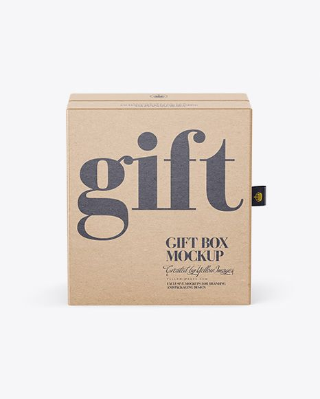Download Kraft Gift Box Mockup Front View Present Your Design On This Mockup Simple To Change The Color Of Differen Box Mockup Mockup Psd Free Psd Mockups Templates
