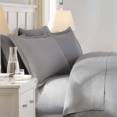 300 Thread Count Wrinkle Resistant American Cotton Sateen Duvet Cover Set Quilt Cover Duvet Cover Sets Home