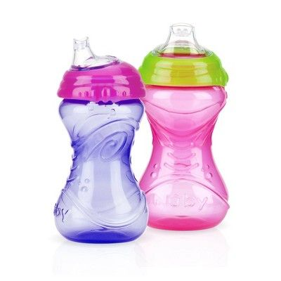 Nuby Cup 2pk Clik It Soft Spout 10oz Sippy Cups Assorted Colors Nuby Sippy Cup Baby Sippy Cup