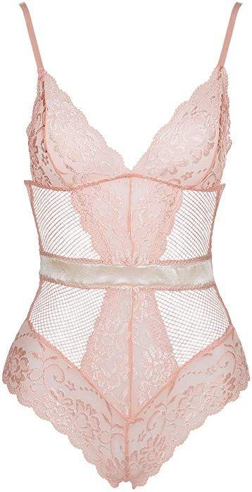 Women Lace Sexy-Lingerie One Piece Fish net Bodystocking Underwear Sleepwear Hot