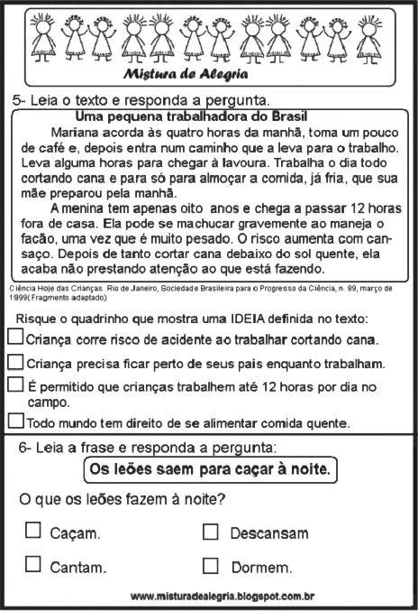 Pin Em Atividades De Lingua Portuguesa