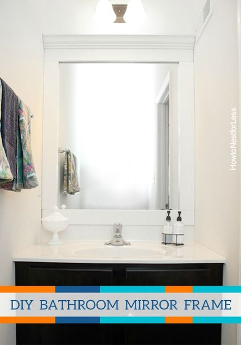 Learn how to properly frame a bathroom mirror with this great DIY tutorial. Create a totally new look in your home with this advanced project.