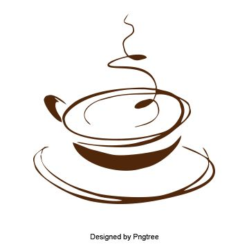 Hand Painted Brown Coffee Cup Cup Clipart Png Transparent Image
