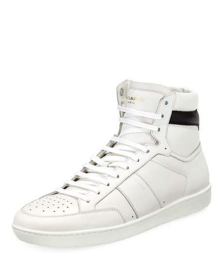 0a309bc19 Men's Lace-Up High-Top Sneaker by Saint Laurent at Neiman Marcus ...