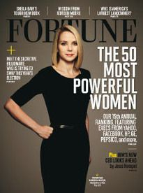 yahoo CEO Marissa Mayer on the cover of forbes magazine's 50 most powerful women, 2012 issue. it's great to see female engineers at the forefront of the tech industry. at Mayer is the youngest female CEO of a fortune 500 company & the first to assume