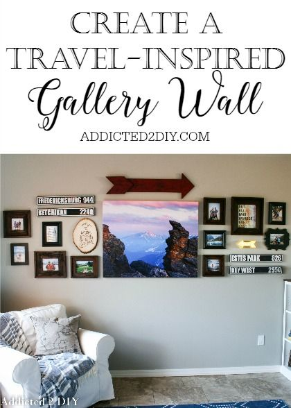 Create A Travel Inspired Gallery Wall Vacation Display And