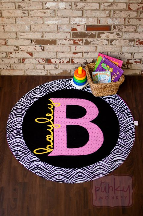 Playmat, Stroller Blanket, Rug, Throw, Activity, Toy, Personalized, Monogram