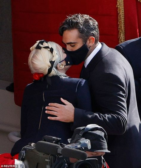 Lady Gaga is seen KISSING tech entrepreneur Michael Polansky through MASKS   Daily Mail Online