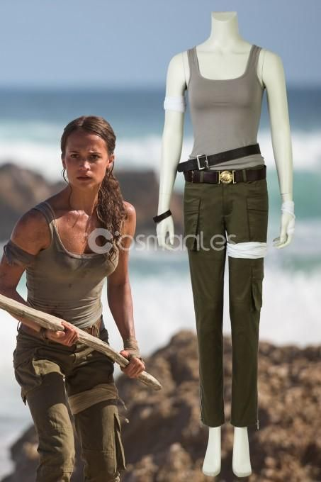 2018 Tomb Raider Lara Croft Cosplay Costume Laura Croft Costume