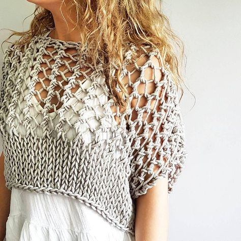 Knitting pattern for the Knotty Crop Top Festival crop knit   Etsy