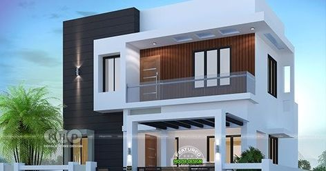1500 Sq Ft 3 Bedroom Modern Home Plan Duplex House Design Flat Roof House Designs Modern House Floor Plans