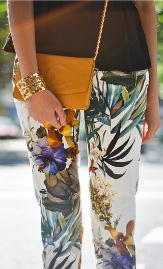 Chanel Bag and Printed Trousers