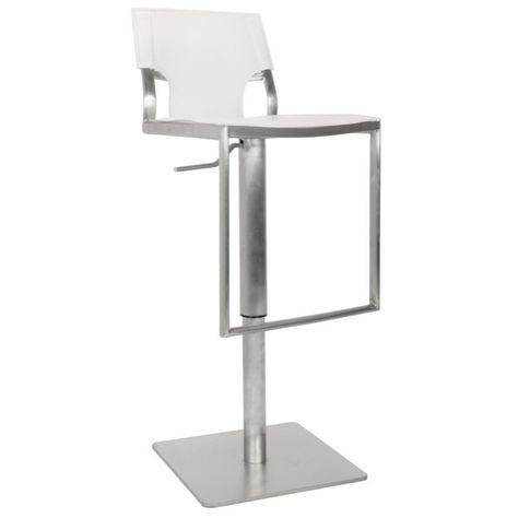 Rockey Adjustable Height Bar Stool Adjustable Bar Stools White