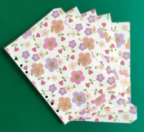 Filofax-Kikki-A5-Organiser-Planner-Summer-Flower-Dividers-Fully-Laminated