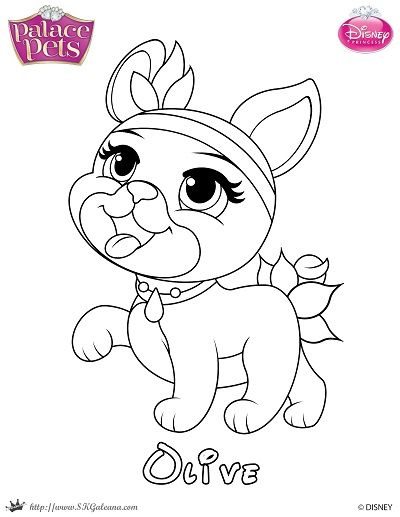Free Princess Palace Pets Coloring Page Of Olive In 2020 Princess Coloring Pages Disney Princess Coloring Pages Princess Coloring