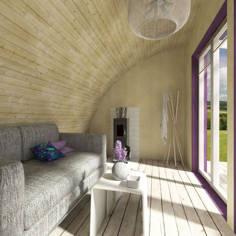 Kylie is an unconventional top-up for your garden featuring some bold shapes. The dome-like porch is not just eye-catching, it also regulates the sunlight brought in the shed. Right behind the shaders, there are big wide window openings so an extra care is needed to prevent from overheating. #gardenhouse #shedplans #DIYplanshouse #gardenwoodenhouse