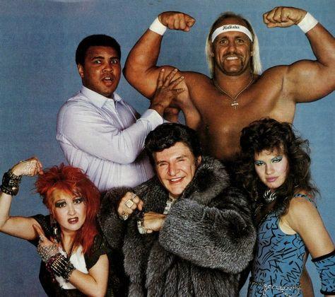 1980s: Muhammad Ali, Hulk Hogan, Cyndi Lauper, Liberace and Wendi Richter