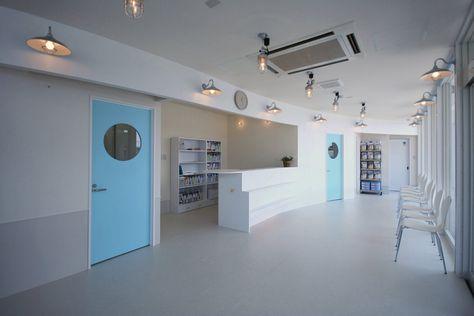 青森県八戸市 白銀犬と猫の病院 海と風と波を感じる待合ラウンジデザイン ラウンジ デザイン 建築士