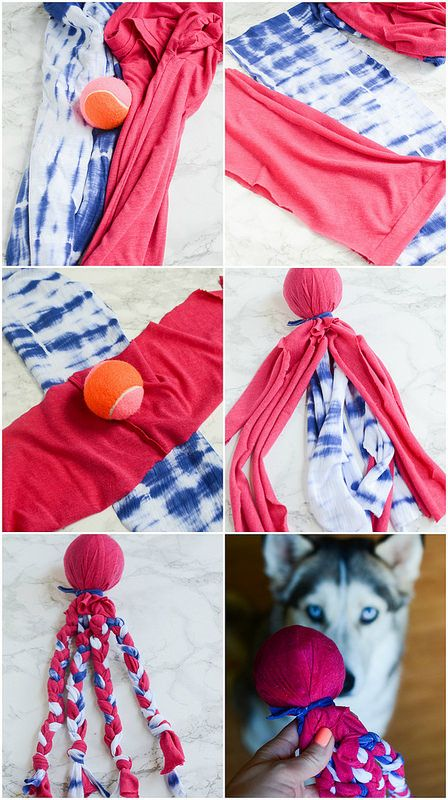 busy dog ideas,how to make dog toys easy,backyard fun for dogs Diy Puppy Toys, Diy Toys For Dogs, Diy Dog Toys Fleece, Dog Enrichment, Homemade Dog Toys, Best Dog Toys, Pet Dogs, Pets, Dog Clothes Patterns