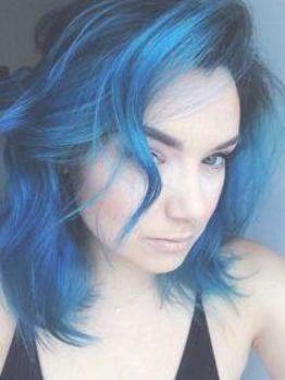 Temno Sinij Cvet Volos Trend Navy Sinij Hair Denim Dark