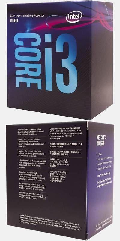 Details About Intel Core I3 8100 Coffee Lake Processor 3 6ghz 8 0gt S 6mb Lga 1151 Cpu Retail Intel Core Intel Lga