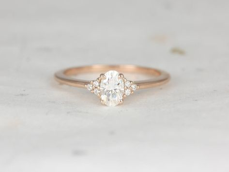66553a4c8395e 1.50cts Petite Emery 8x6mm 14kt White Gold Forever One Moissanite ...