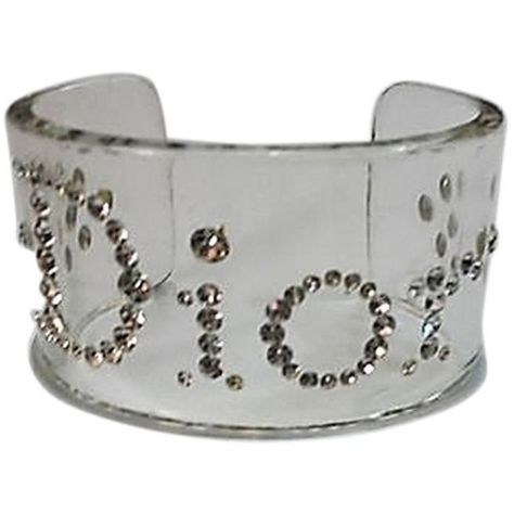 0372976e8d Pre-owned Christian Dior Clear Lucite Vintage 1980's Cuff Bracelet ($168) ❤  liked on Polyvore featuring jewelry, bracelets, accessories, clear  transparent, ...